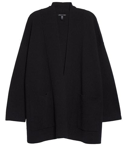 Eileen Fisher silk & cashmere cardigan   40plusstyle.com