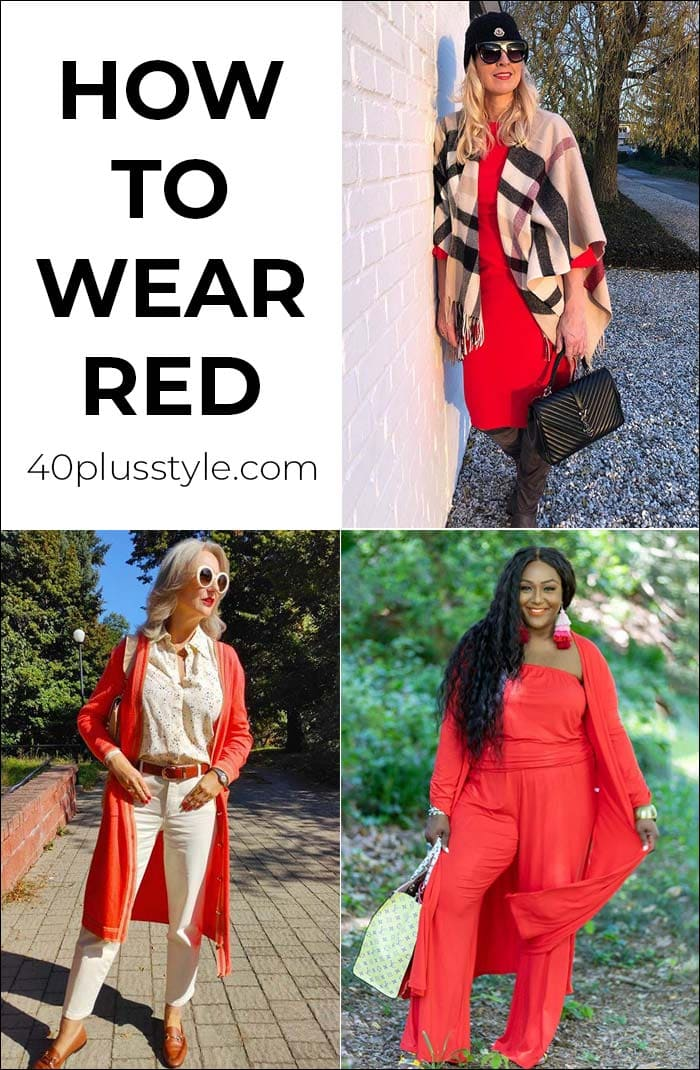 How to wear red - your comprehensive guide to wearing the color of love!   40plusstyle.com
