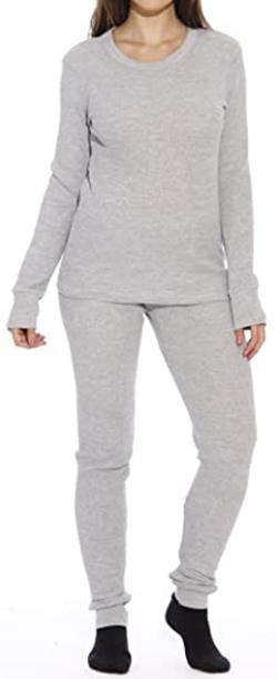 Just Love thermal underwear pajamas set   40plusstyle.com