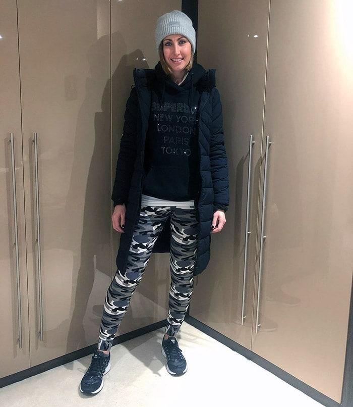 Lou wears a warm, casual winter coat   40plusstyle.com
