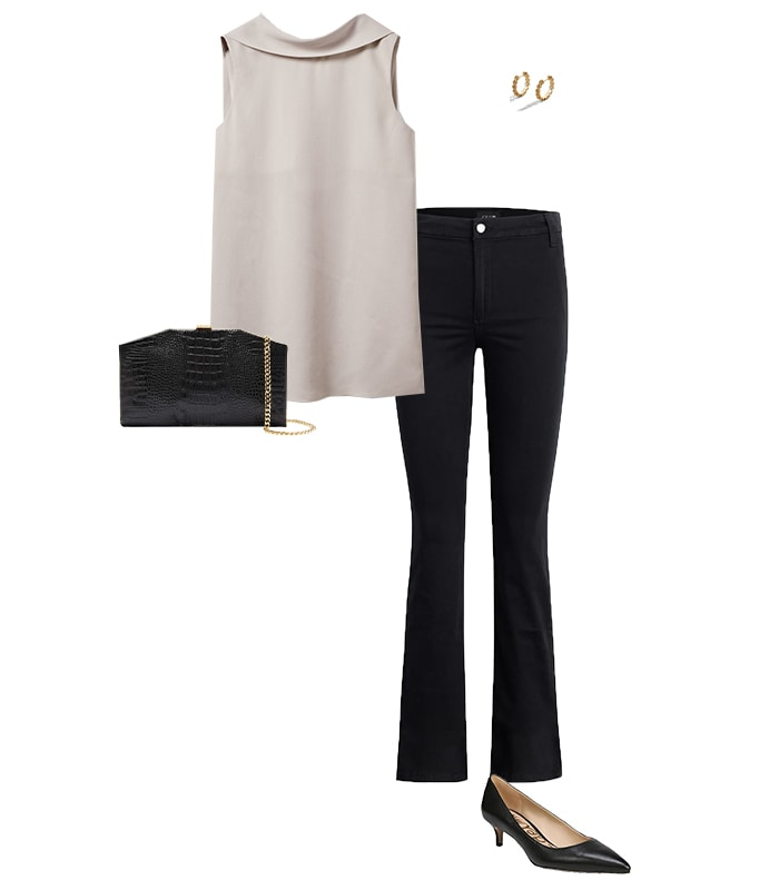 Casual party outfits - jeans and a nice top | 40plusstyle.com