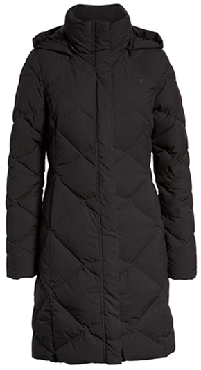The North Face water repellant hooded parka | 40plusstyle.com