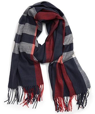 Barbour check scarf | 40plusstyle.com