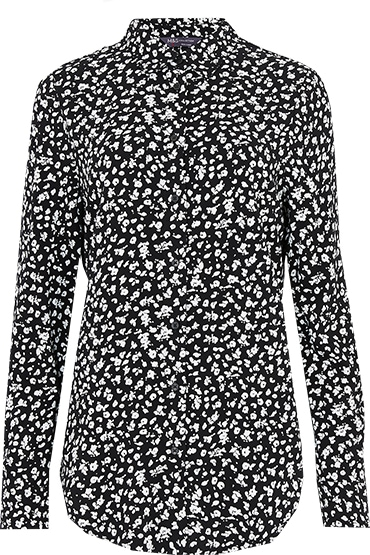 Work from home - Marks & Spencer animal print longline shirt | 40plusstyle.com