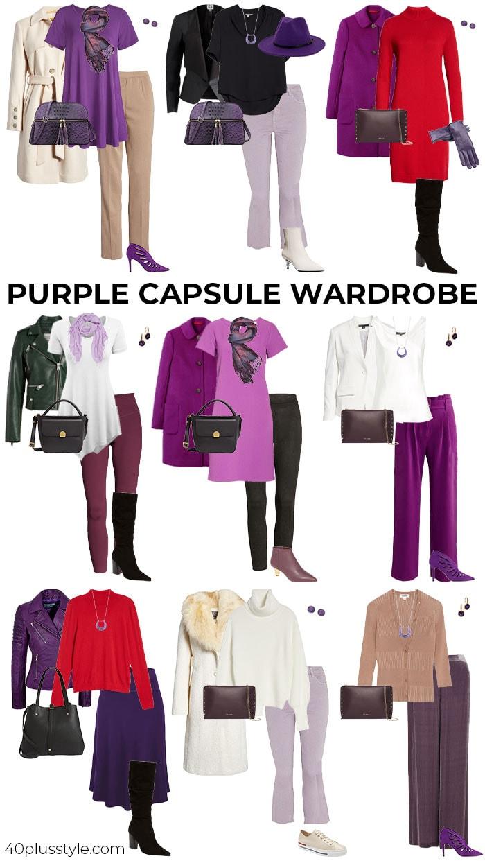 A purple capsule wardrobe | 40plusstyle.com
