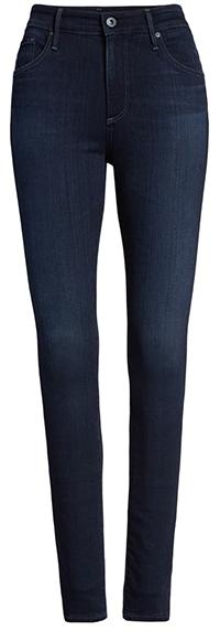 AG high waist skinny jeans | 40plusstyle.com
