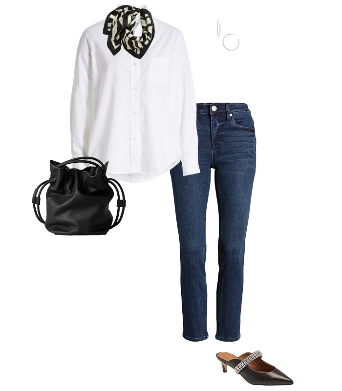 Statement shoes with jeans | 40plusstyle.com