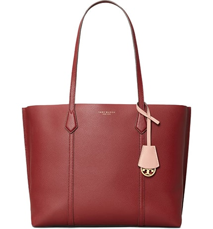 Tory Burch leather tote | 40plusstyle.com