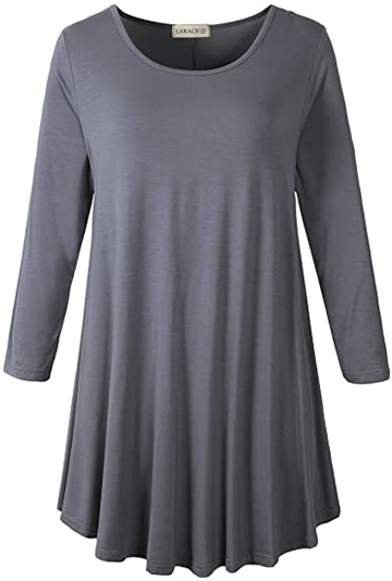 Work from home clothes - LARACE 3/4 sleeve tunic top | 40plusstyle.com