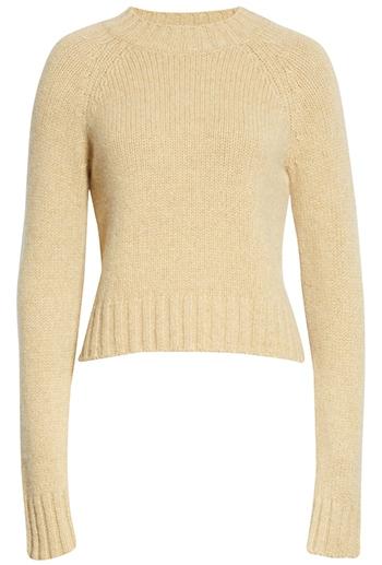 Vince shrunken mock neck cashmere sweater   40plusstyle.com