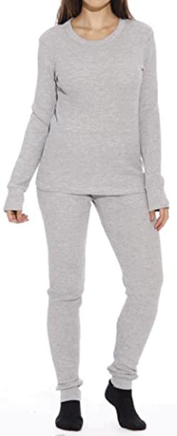 Just Love Women's thermal underwear pajama set | 40plusstyle.com