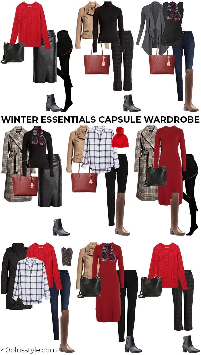 Winter essentials capsule wardrobe | 40plusstyle.com