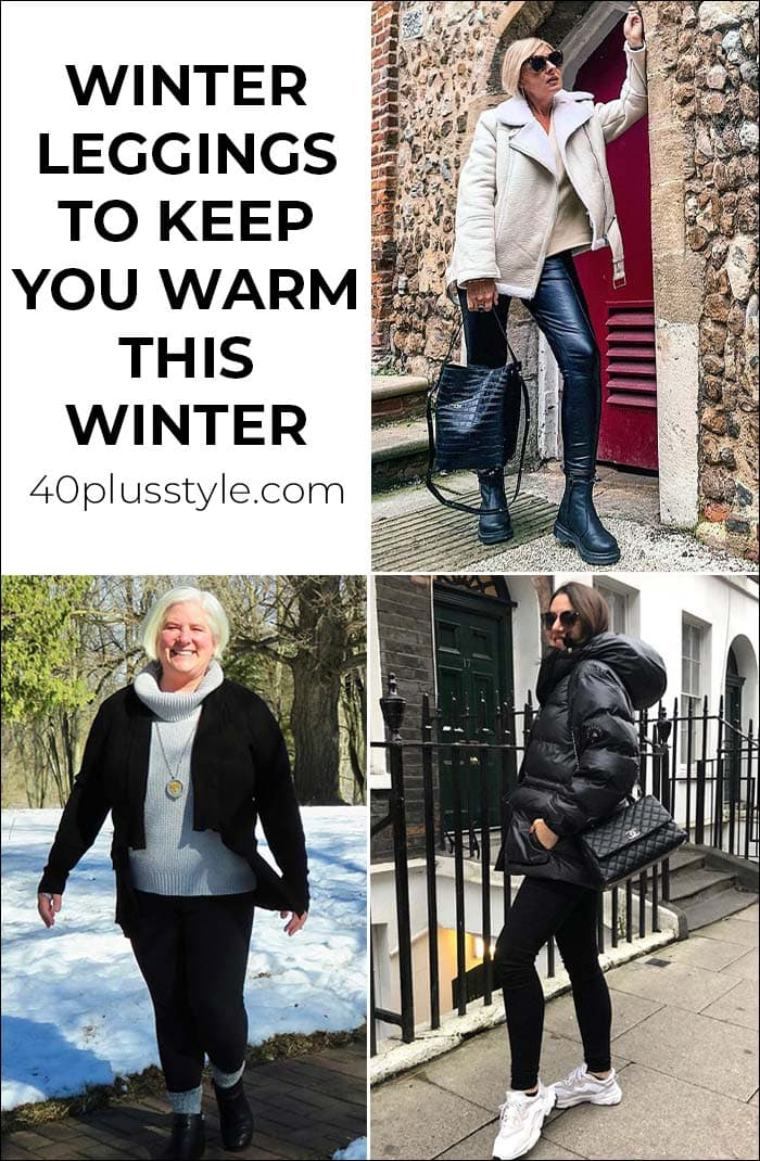 Winter leggings and fleece lined leggings to keep you warm this winter | 40plusstyle.com