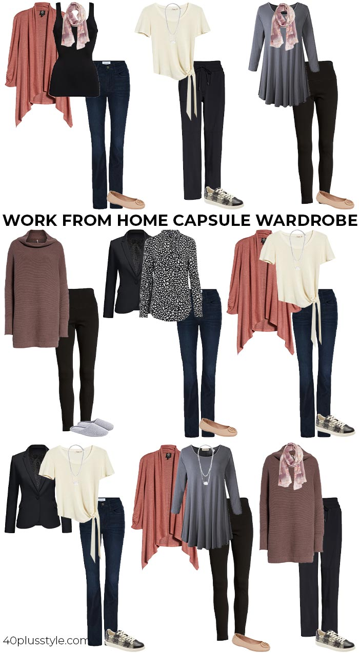 A work from home capsule wardrobe | 40plusstyle.com