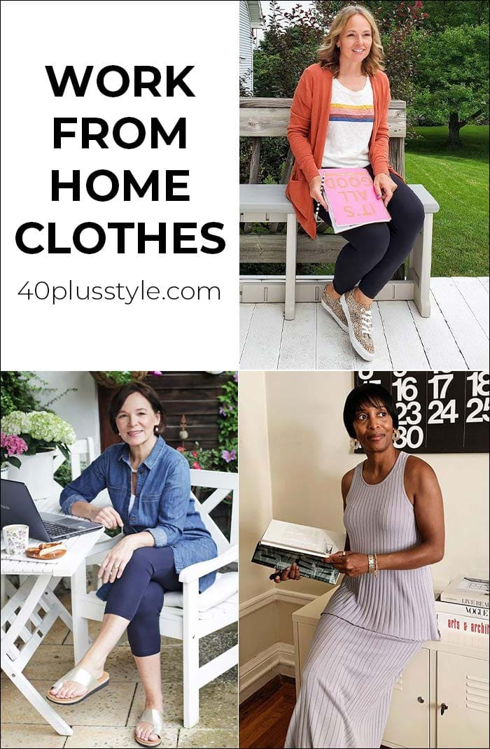 Work from home clothes that are comfortable AND professional to get you in the right frame of mind | 40plusstyle.com