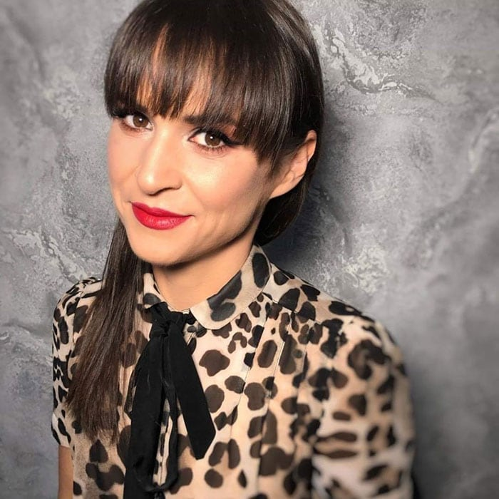 Gifts for make up lovers - Ania wearing classic red lipstick | 40plusstyle.com
