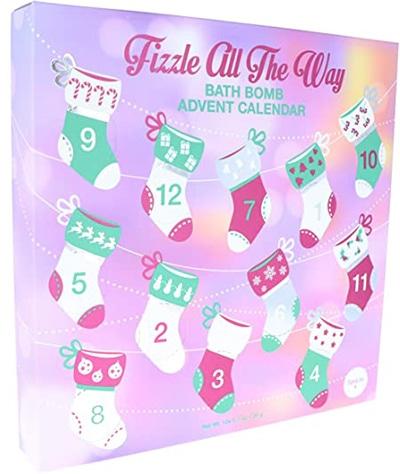 Fizzle All The Way Bath Bomb Advent Calendar | 40plusstyle.com
