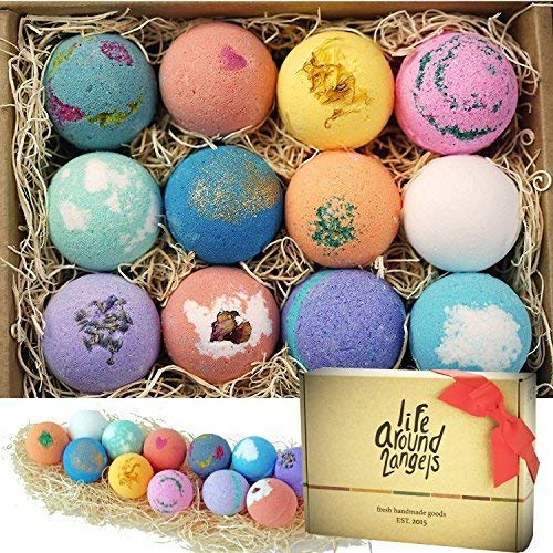 Pampering gifts - LifeAround2Angels bath bombs gift set | 40plusstyle.com