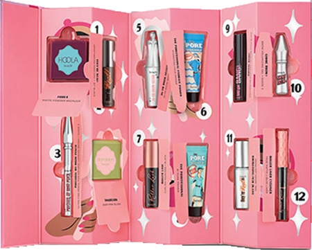 Beauty advent calendars - benefit Shake Your Beauty 12 Day Advent Calendar | 40plusstyle.com