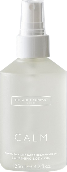 Relaxation gifts - The White Company Calm softening body oil | 40plusstyle.com