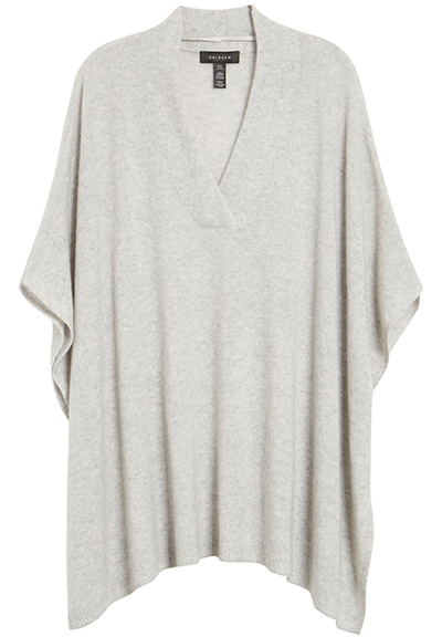 Relaxation gifts - Nordstrom V-neck cashmere poncho | 40plusstyle.com