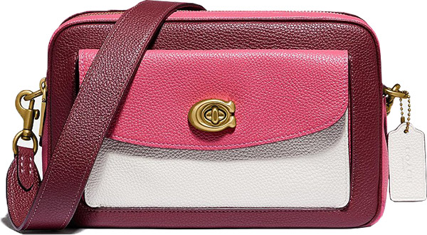 COACH Cassie Colorblock Leather Camera Bag | 40plusstyle.com