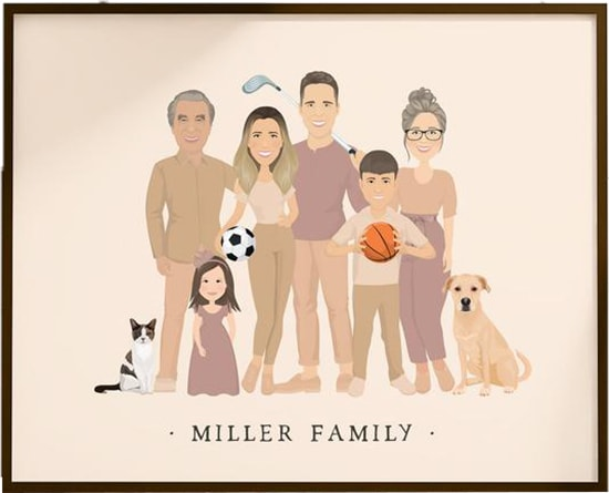 JadeForestDesign personalized family portrait | 40plusstyle.com