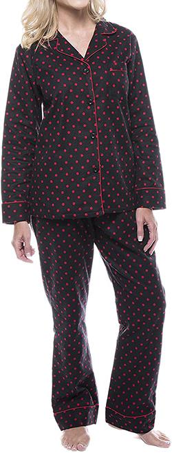 Noble Mount cotton flannel pajama set | 40plusstyle.com