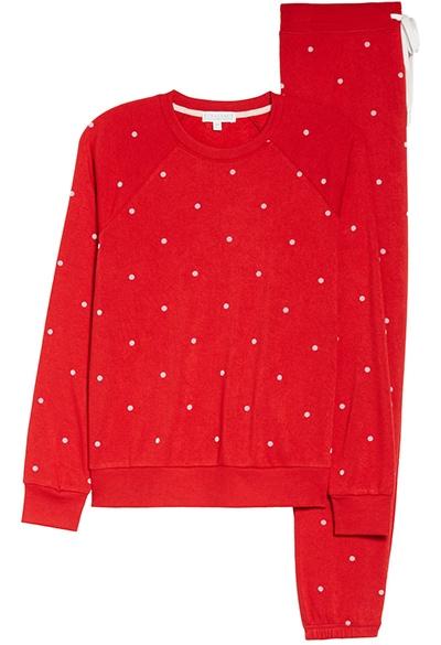 PJ Salvage fleece pajamas | 40plusstyle.com