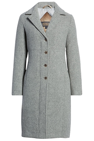 Warm women's coats - Pendleton Michigan Ave water resistant wool blend long down coat | 40plusstyle.com