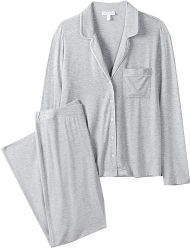 The White Company classic jersey pajama set | 40plusstyle.com