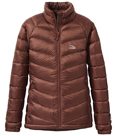 L.L.Bean ultralight water resistant 850 power down jacket | 40plusstyle.com
