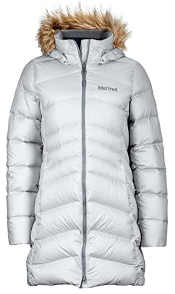 Warm winter coats - Marmot Montreal knee-length down puffer coat | 40plusstyle.com