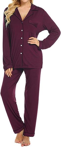 Ekouaer soft pajama set | 40plusstyle.com