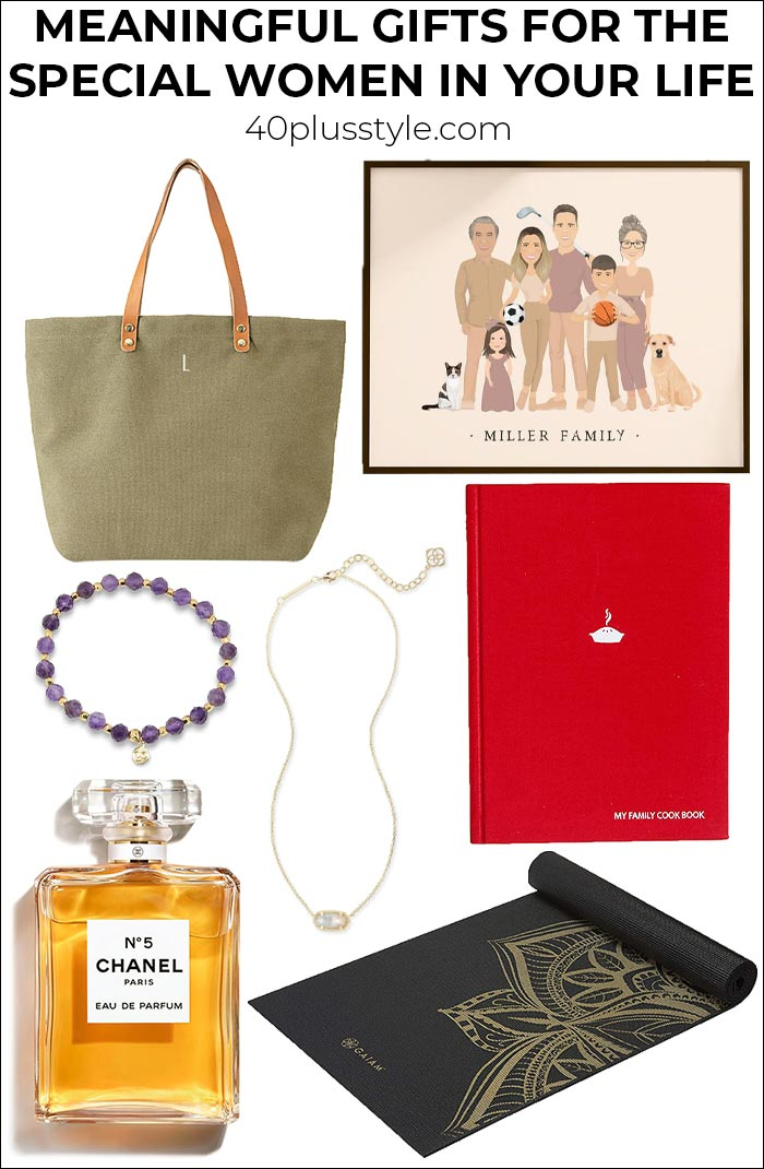 Meaningful gifts for the special women in your life   40plusstyle.com