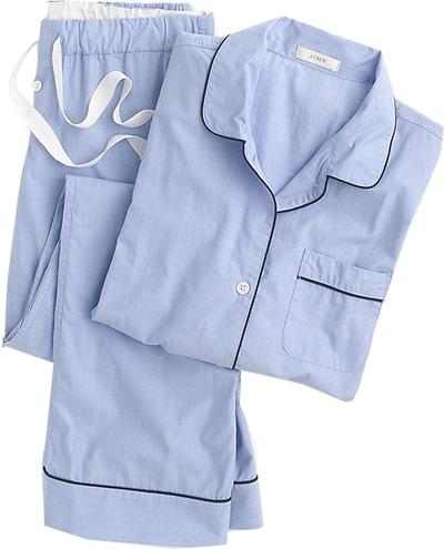 J.Crew vintage pajama set | 40plusstyle.com