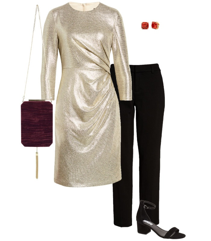 Christmas party outfit 4: Metallics   40plusstyle.com