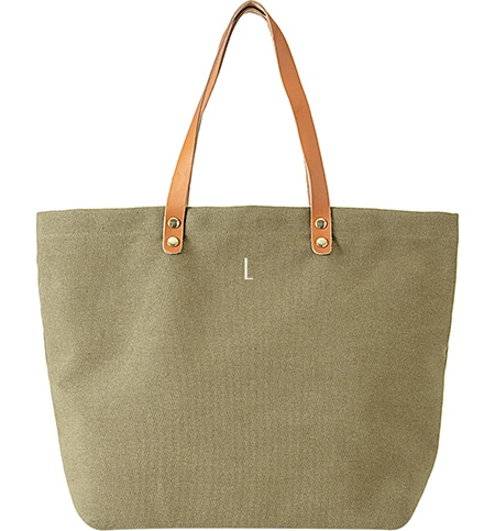Thoughtful gifts - Cathy's Concepts monogram canvas tote | 40plusstyle.com