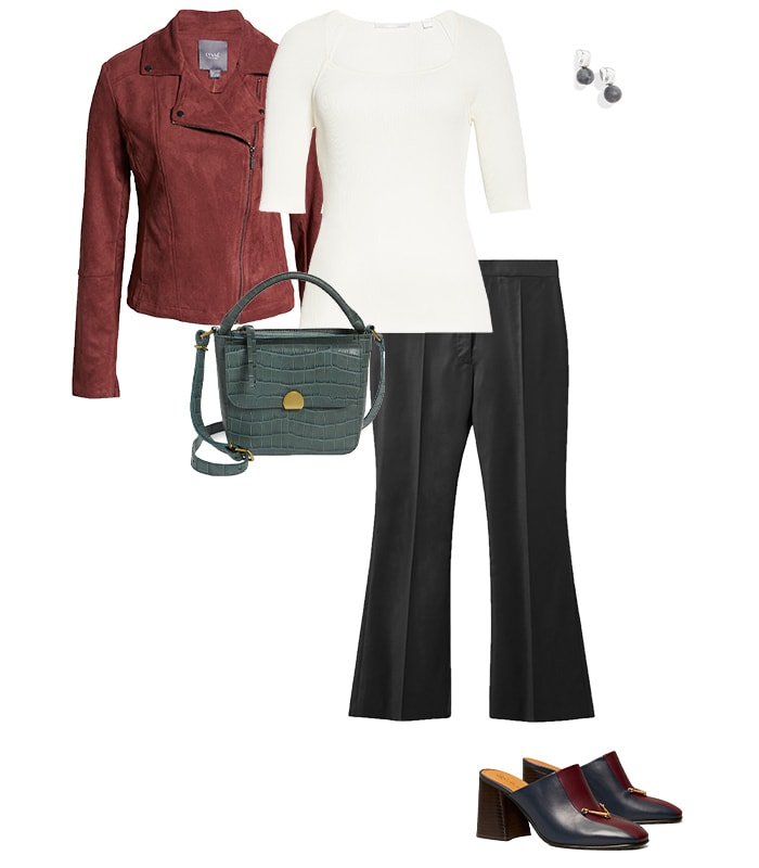 Wide legged pants outfit | 40plusstyle.com