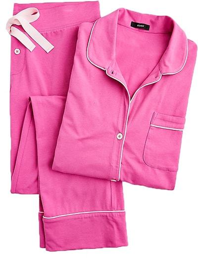 J.Crew cotton pajama set | 40plusstyle.com
