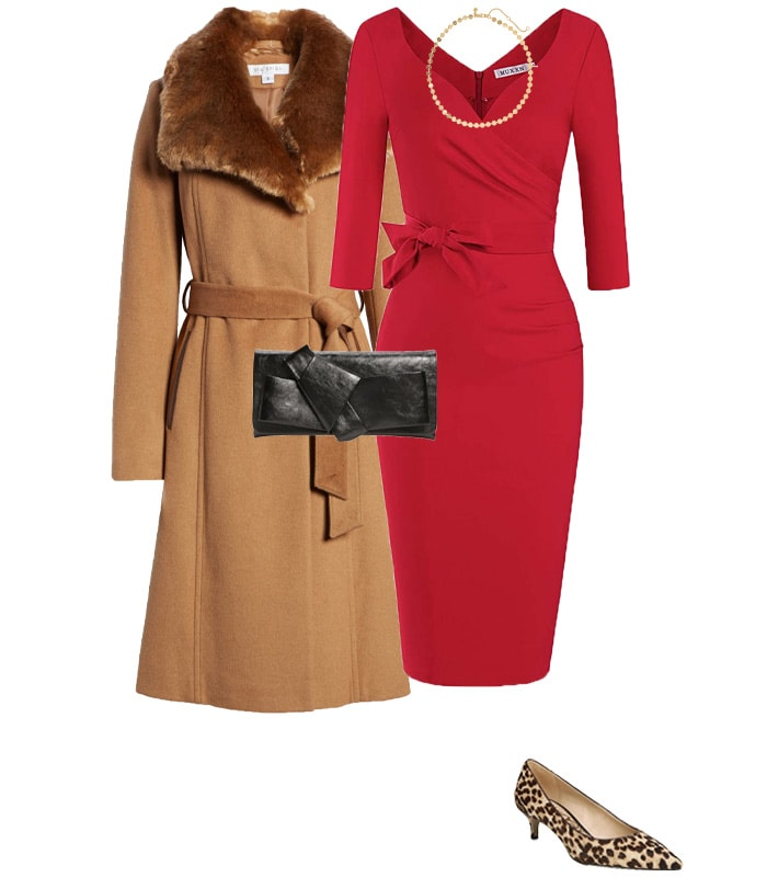 Christmas party outfit 1: Red   40plusstyle.com