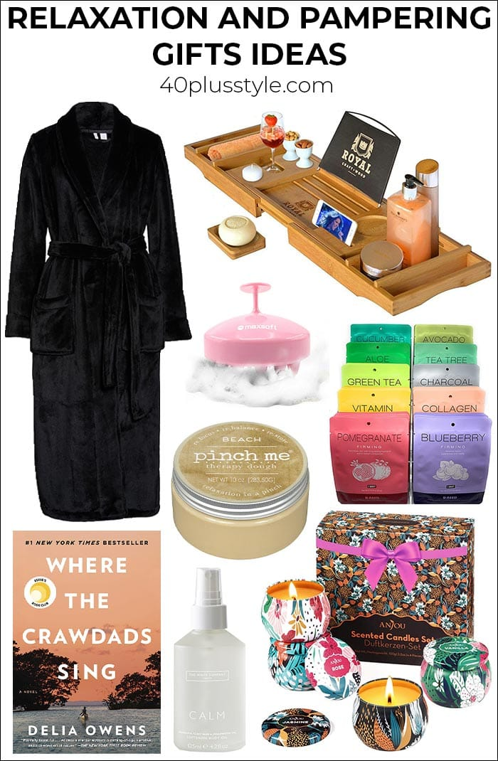 Gifts for relaxation and pampering gifts to help your loved ones (or yourself) to de-stress | 40plusstyle.com