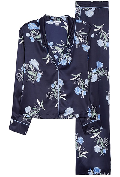 Splendid satin pajamas | 40plusstyle.com
