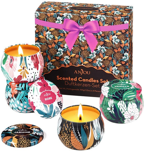 Gifts for relaxation - Anjou scented candles gift set | 40plusstyle.com