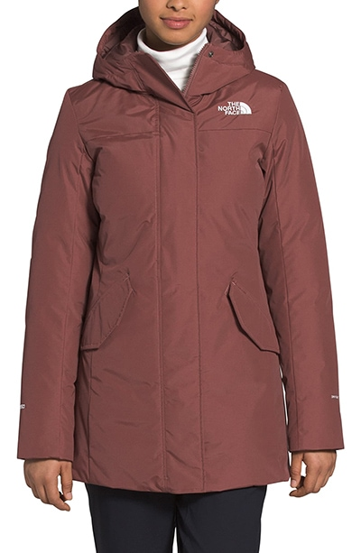 The North Face Pilson Waterproof 550 Fill Power down parka | 40plusstyle.com