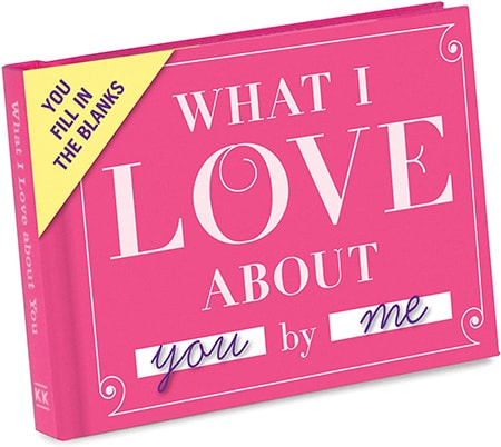 Meaningful gifts - Knock Knock What I Love About You by Me | 40plusstyle.com