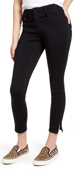 1822 Denim slit cuff butt lift skinny jeans | 40plusstyle.com