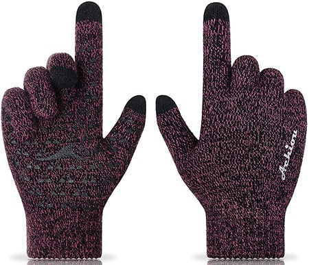 Achiou winter knit gloves | 40plusstyle.com