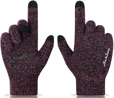 Achiou winter knit gloves | 40plusstyle.com