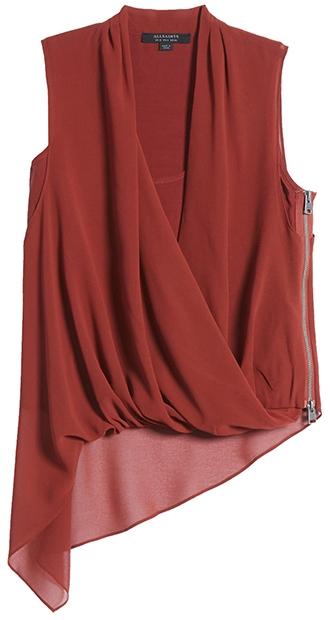 Stylish clothes - ALLSAINTS drape top | 40plusstyle.com